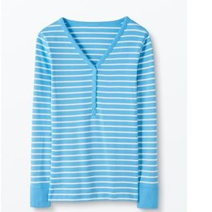 NWT Organic Hanna Andersson Henley Top - L